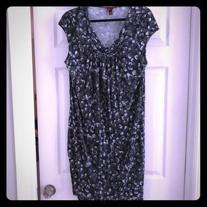 EUC - dress/tunic grey with black & white size xxl